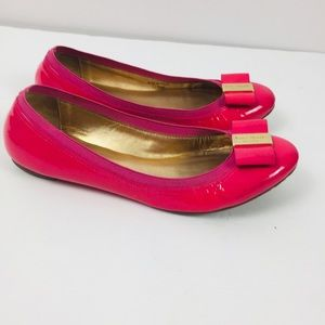 Kate Spade Patent Leather Pink Flats Sz 7.5